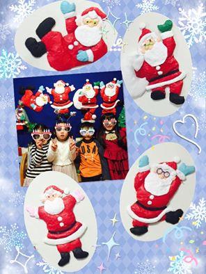 小学生の紙製サンタクロース_n
